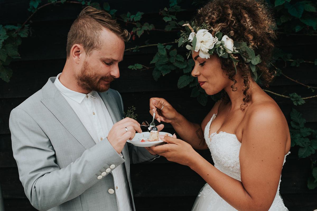bruidstaart eten