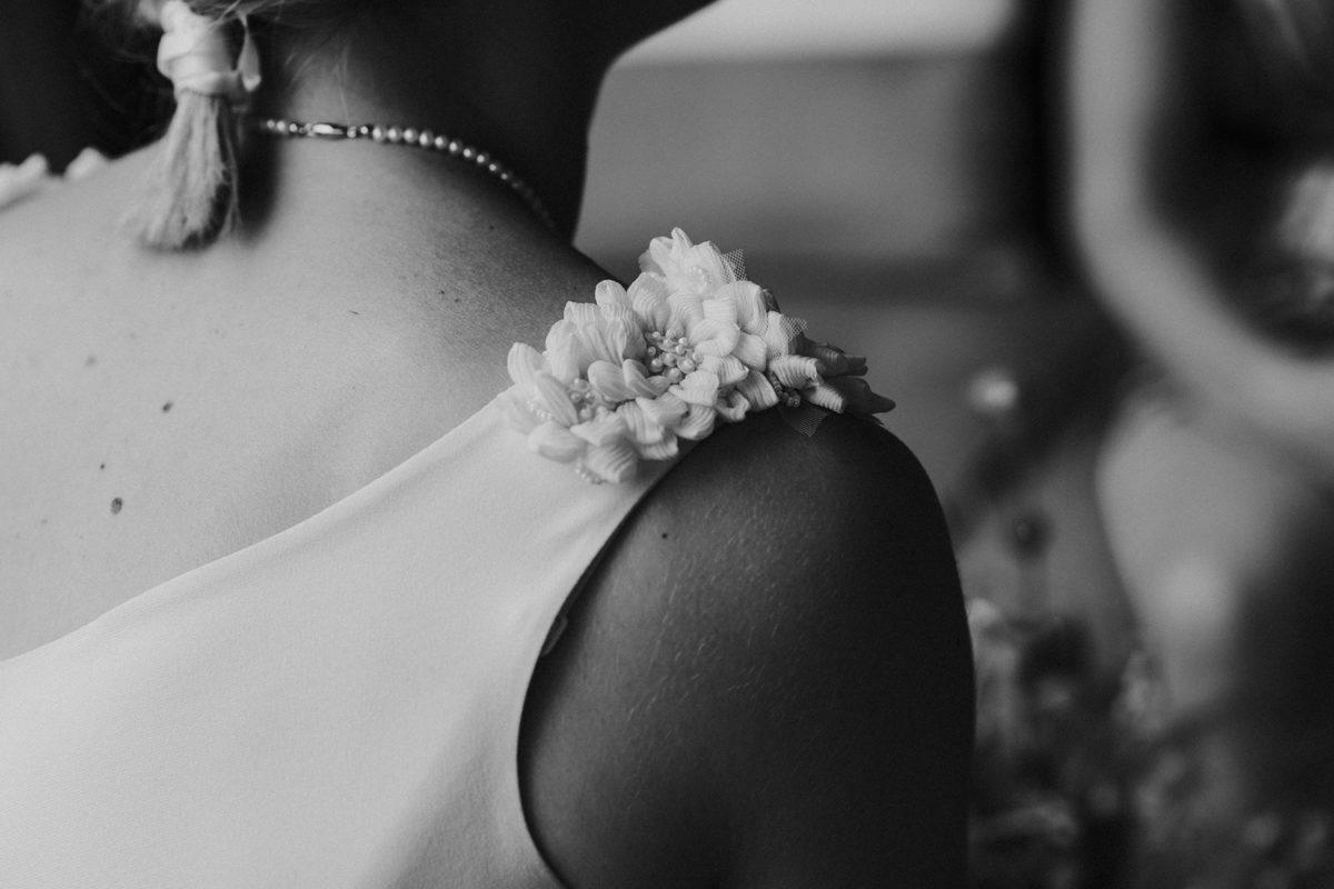 detail bruidsjurk