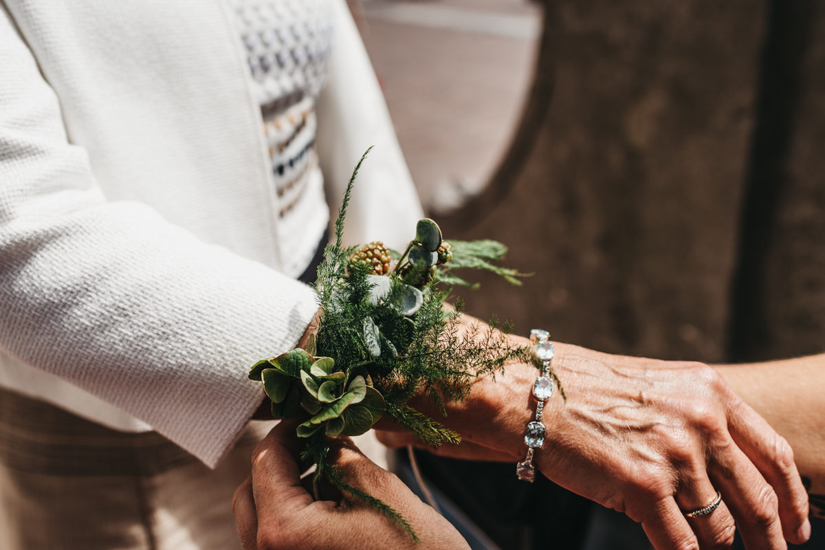 polscorsage bruiloft