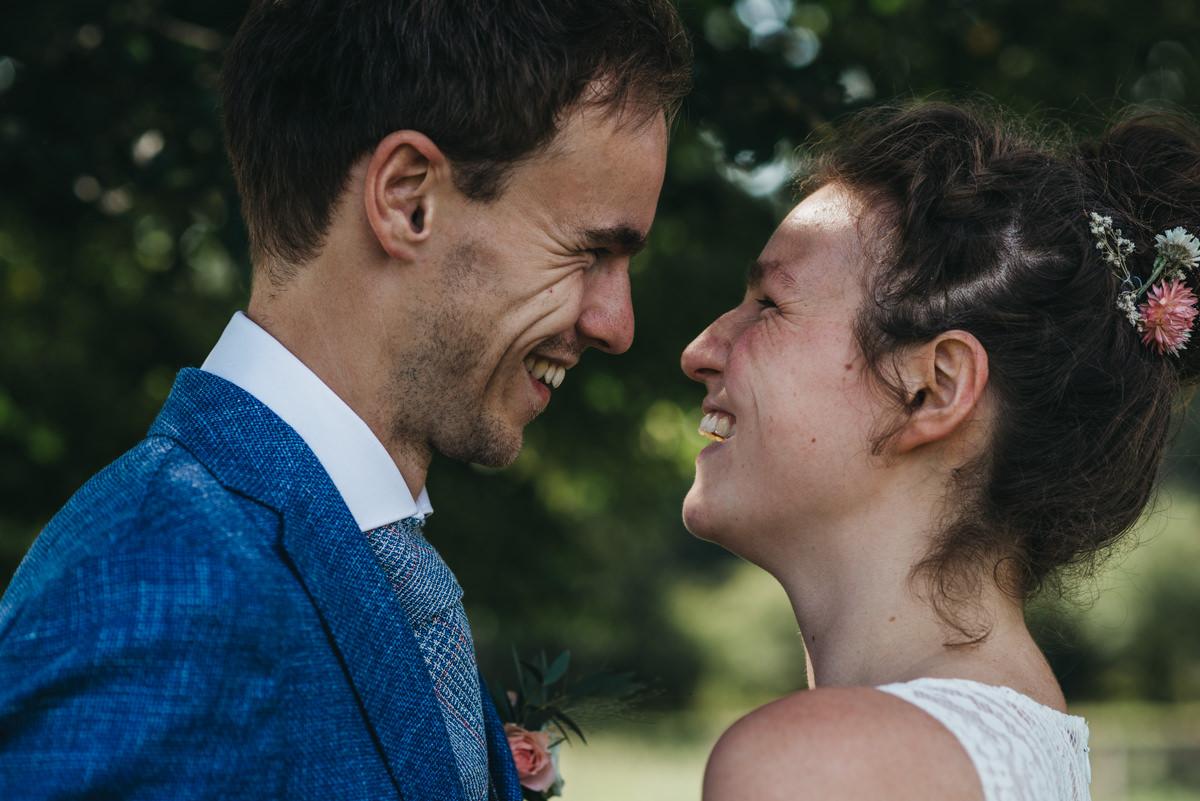 portret bruid en bruidegom